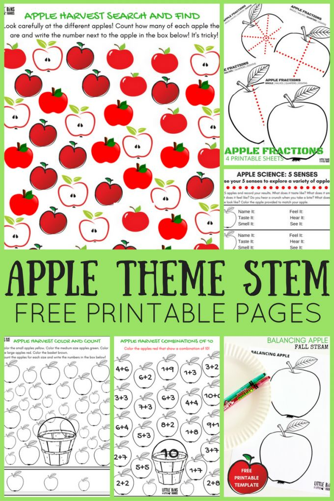 apple theme worksheets and apple stem activities free pages activities learning and science. Black Bedroom Furniture Sets. Home Design Ideas
