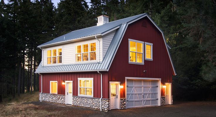 Beautiful Barn Shaped Metal Building Home Follow The Link