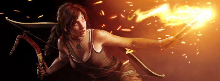 Lara Croft tomb raider 2012 facebook cover