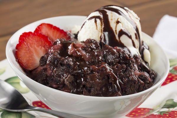 Strawberry-Chocolate Dump Cake | MrFood.com