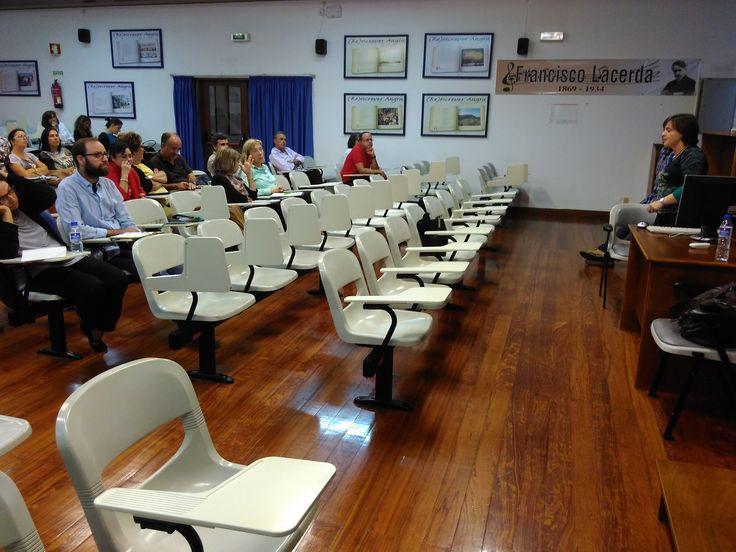 Apresentação da plataforma REDA à Escola Secundária Jerónimo Emiliano de Andrade (13 de outubro de 2016).