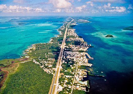 Aerial view of Key Largo (Key Largo, Florida). We had so much fun here. Great snorkeling!