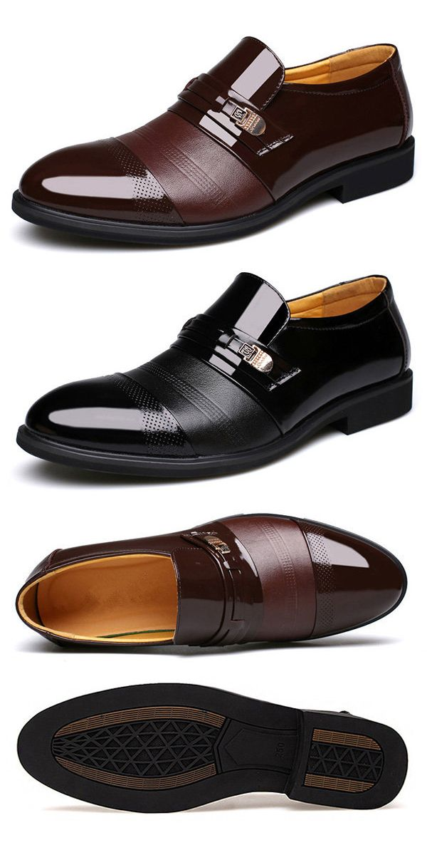 57c35ac78d5  48%OFF Mens Cap Toe Pointed Toe Slip On Business Formal Shoes business   shoes  men