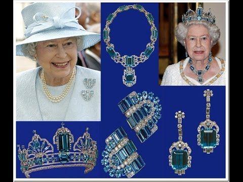 La increible joyería de la reina Isabel II de Inglaterra. Sus collares.