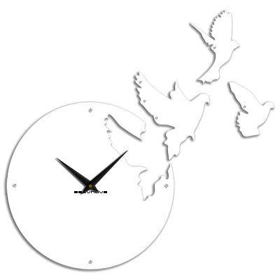 Clock Etude...DOVES modern clock digital wall by ModernWallClock