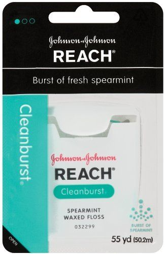 Reach Clean Burst Dental Floss, Waxed,  Cleanburst, 55-Yard Dispensers (Pack of 4) by Reach. $5.56. Give yourself a boost, with a burst of flavor. Reach Cleanburst removes up to 52% more plaque than Glide Original Mint.