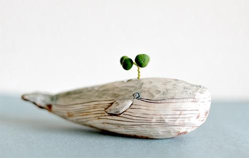 Whimsical Ceramic Animal Planters  Je préfère l'éléphant, il est très beau
