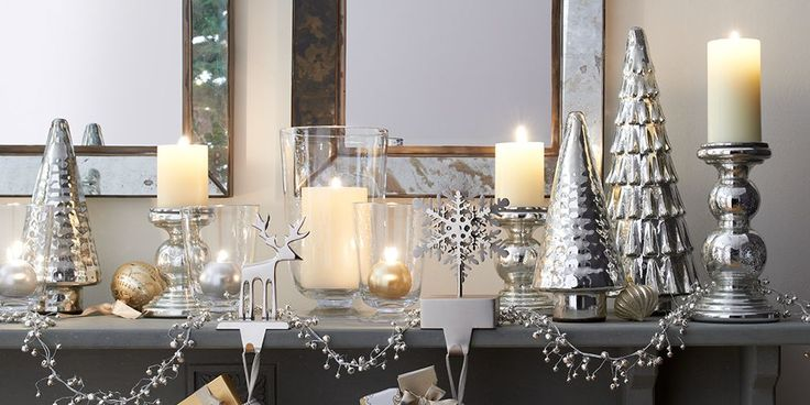 Treetops Glissen Holiday Mantel | Crate and Barrel