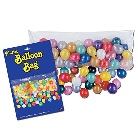 I've always wanted the #balloons to #drop at #midnight! Super cool for my #New #Years #Eve #party    Plastic Balloon Bag (bag only) Party Accessory  (1 count)