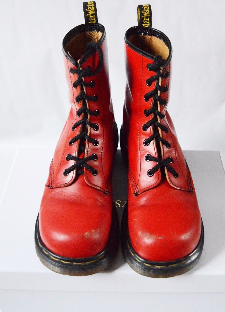 For sale is a used pair of rare vintage Dr. Martens boots, made in England.