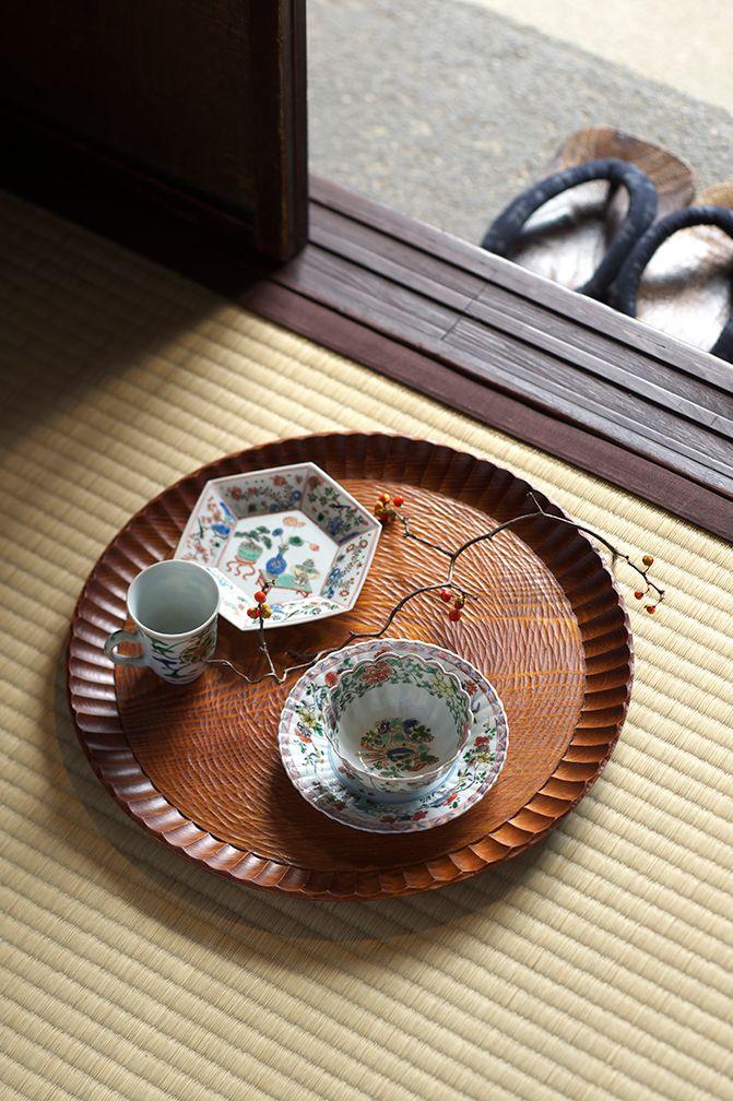 ・くり出し盆[昭和] ・色絵カップソーサー[18c]