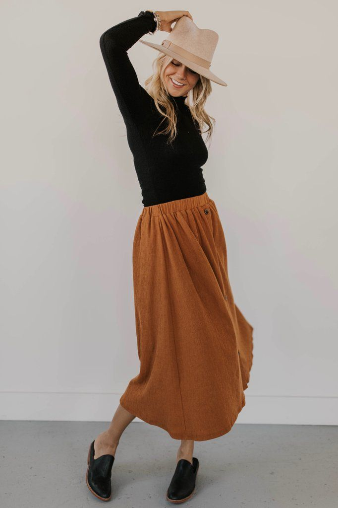 Tayla Button Skirt 5