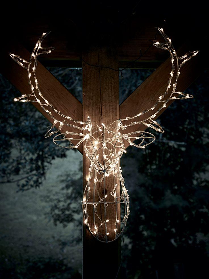 Magical Light Up Deer Head Christmas Deer Lights