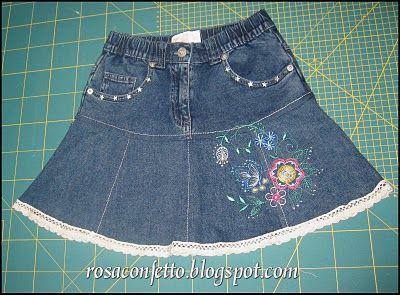 Rosa Confetto: Da pantalone a gonna -Tutorial