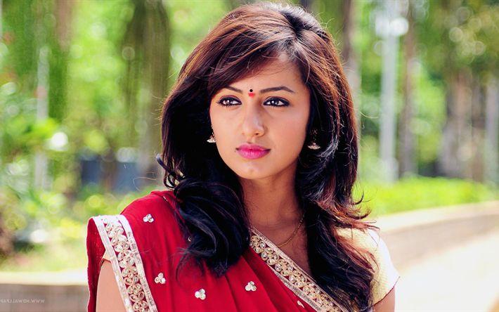 Lataa kuva Tejaswi Madivada, 4k, ruskeaverikkö, intialainen näyttelijä, kauneus, Bollywood