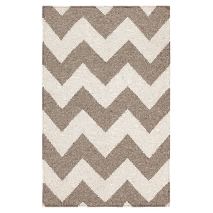 Frontier Taupe/Winter White Chevron Area Rug