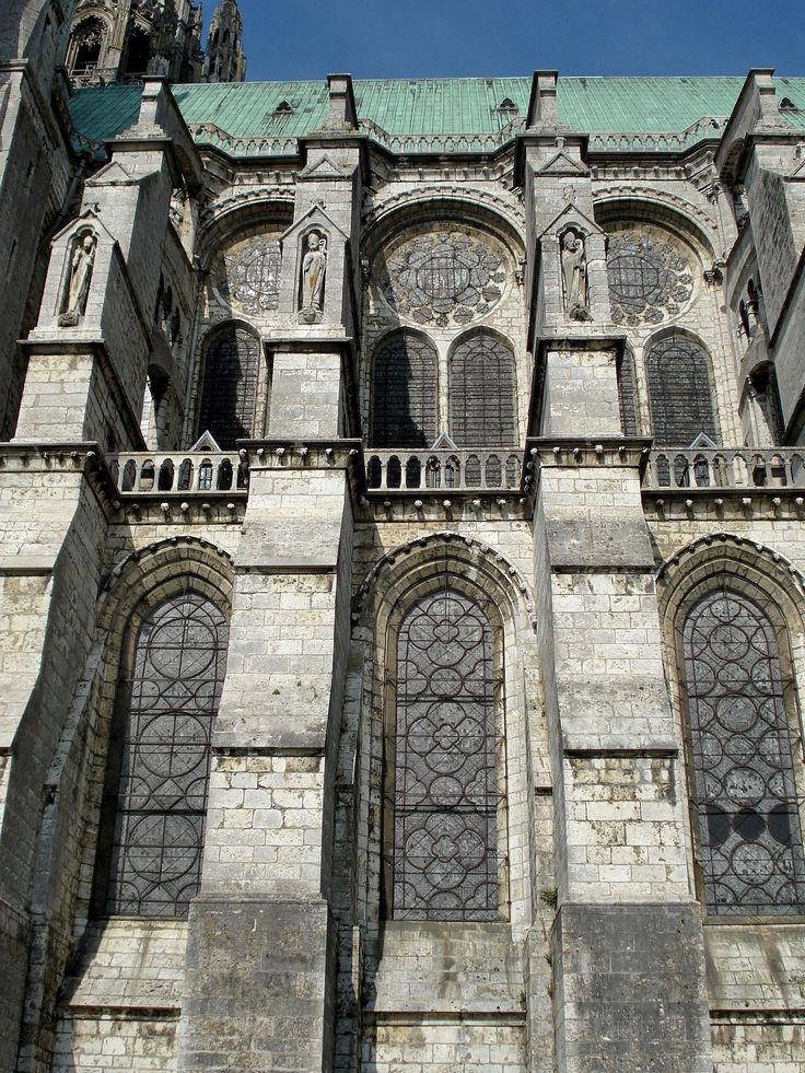 032 high gothic france clerestory and flying buttresses chartres cathedral 1194 1250 the. Black Bedroom Furniture Sets. Home Design Ideas