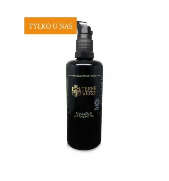 Olejek do oczyszczania twarzy GoodOils - Terre Verdi, 100 ml  GoodOils to mieszanka olejów organicznych, która idealnie usunie z twarzy zanieczyszczenia i pozostałości makijażu zapewniając jednocześnie skórze odpowiednią pielęgnację.