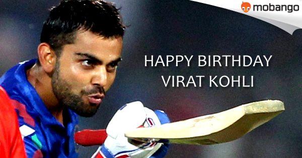 #Mobango wishes Virat Kohli 'Many Many Happy Returns of the Day'. Celebrate this occasion with Best, Free Cricket Games Click:http://bit.ly/Mobango_CricketGames