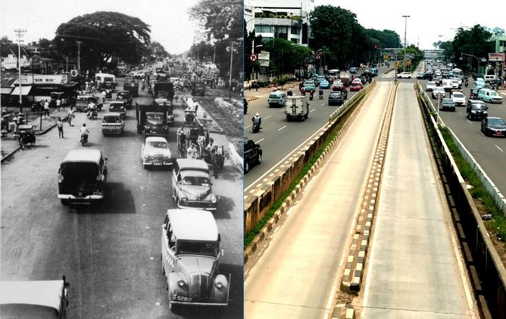 jl Matraman Raya, Jakarta,  1959an dan 2017