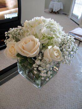 Centro con flores color pastel