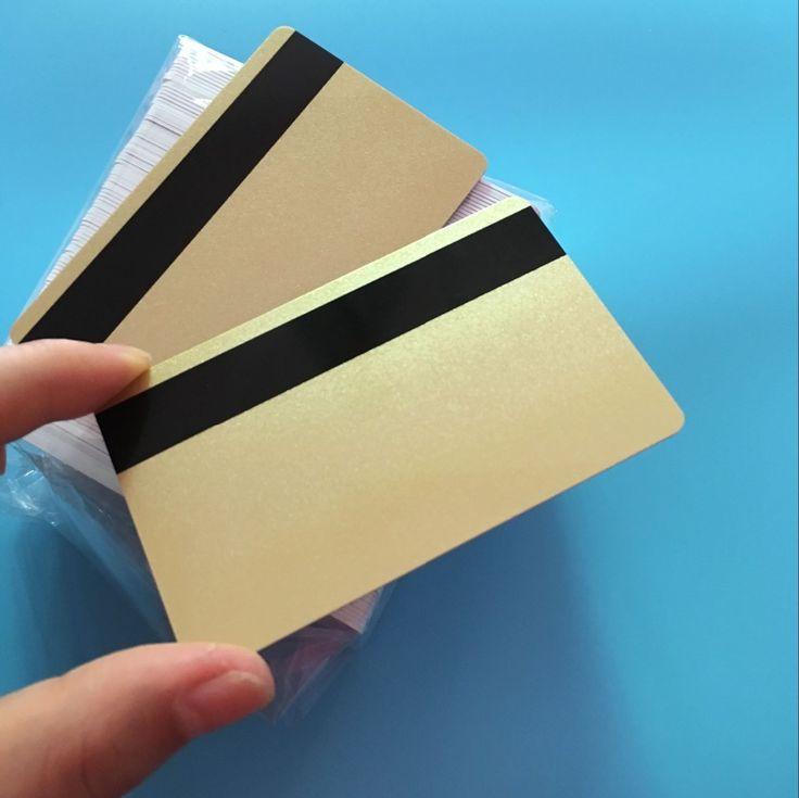 200PCS 3 Track Hi CO Gold Magnetic Stripe Card  ISO 2750 3000 4000 OE PVC Smart Card For MSR 605 606 Magnetic Card Reader Writer