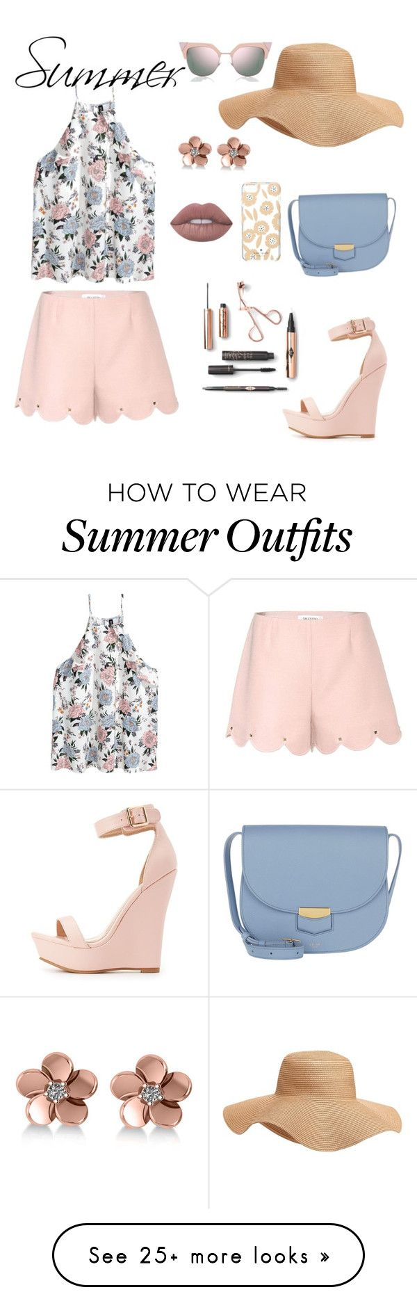 """Summer outfit"" by gretusska on Polyvore featuring Valentino, Charlotte Russe, CÉLINE, Fendi, Kate Spade, Old Navy and Allurez"