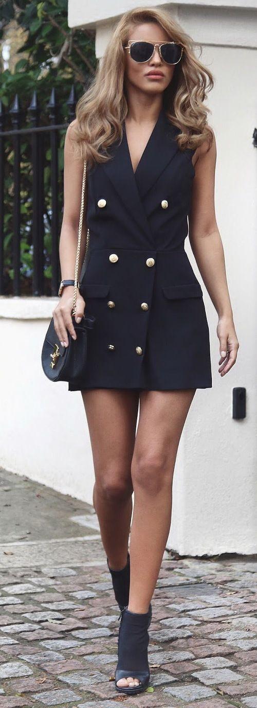 Tuxedo Playsuit - Miss Selfridge