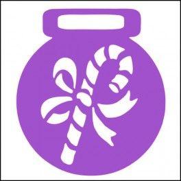 Categoría: Stencils Para Galletas - Producto: Stencil Para Galletas 7Cm-Baston Caramelo-C001 - Envase: Unidad - Presentación: X Unid.