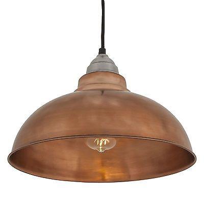 Old Factory Vintage Pendant Light - Copper - 12 inch