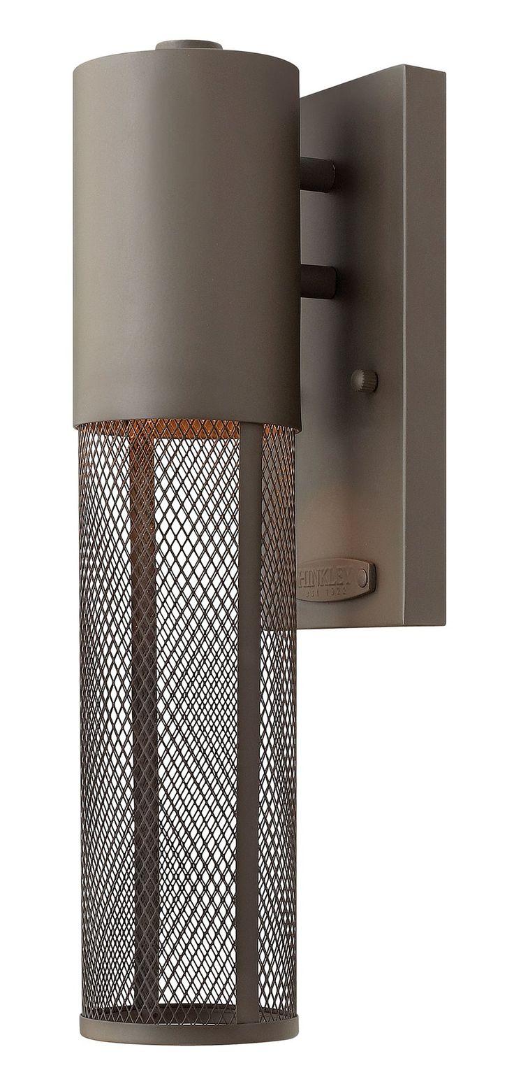 $109.00 Hinkley Lighting 2306KZ Aria Contemporary Outdoor Wall Light Sconce  HK 2306 KZ