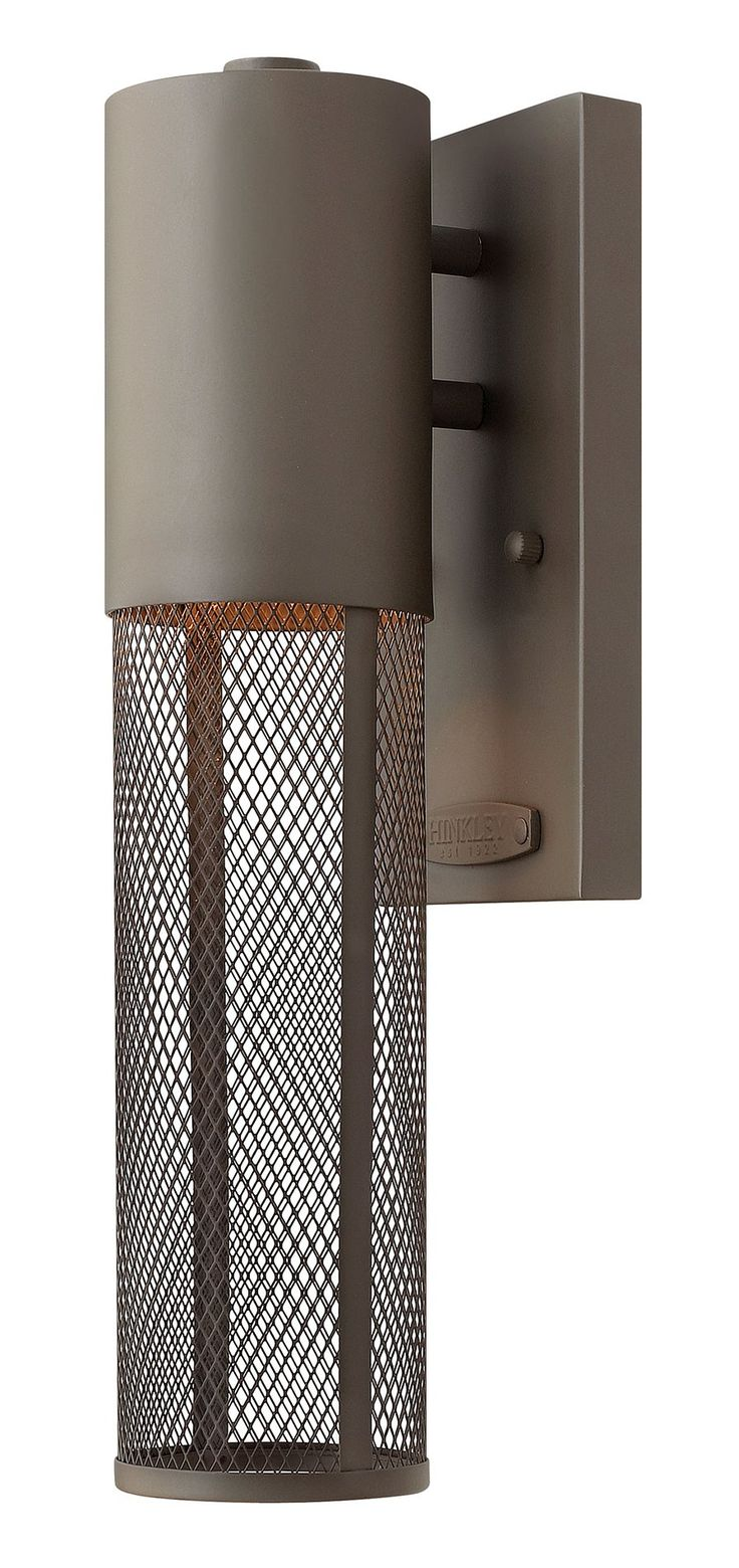 $109.00  Hinkley Lighting 2306KZ Aria Contemporary Outdoor Wall Light Sconce HK-2306-KZ