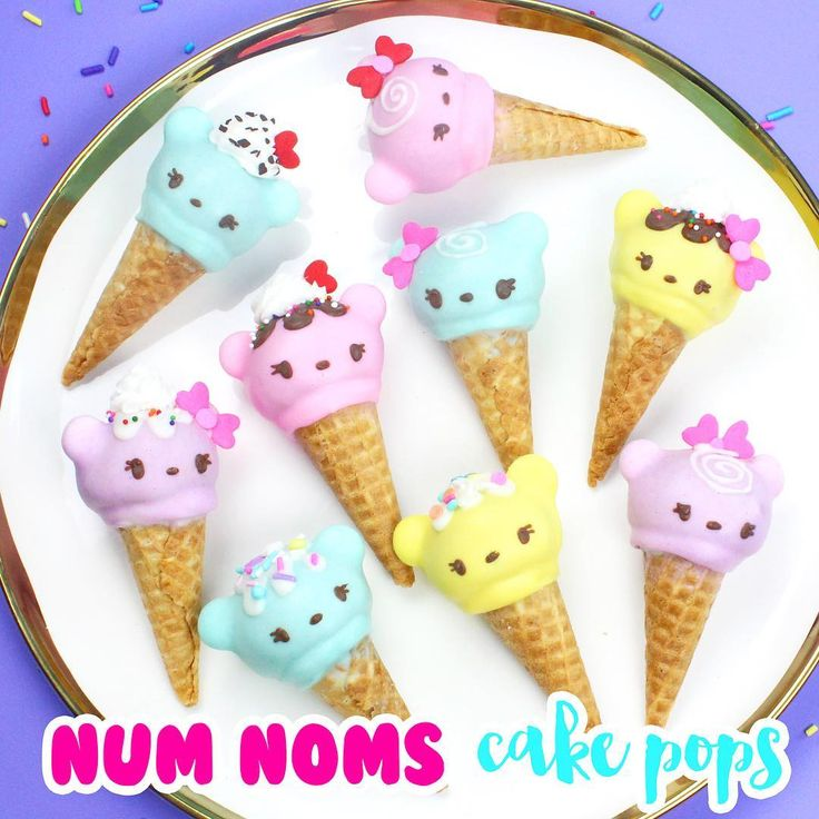 NEW VIDEO up today!  Learn how to make some adorable Num Noms-inspired cake pops!! Hope you guys like them, and have a great rest of your weekends!  Link in my profile!