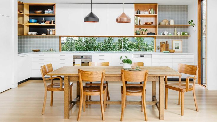 Image result for kitchen design timber floor windowsplashback