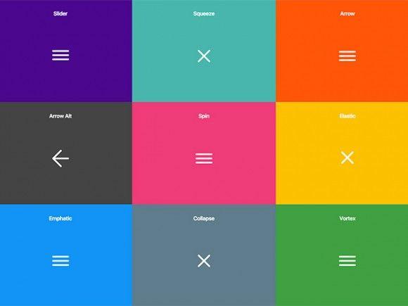 10 CSS hamburger menu effects - Freebiesbug
