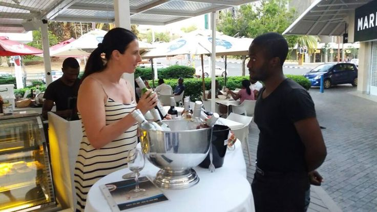 At the Street Cuisine event in Windhoek having a fun time chatting to clients about Angles Tears Wines. http://www.grandeprovence.co.za/…/our-w…/angels-tears-wines/  http://www.grandeprovence.co.za/