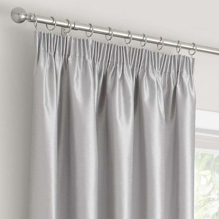 Montana Silver Lined Pencil Pleat Curtains | Dunelm
