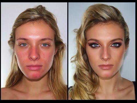 Maquillaje Glamoroso para Pieles Blancas- Tutorial - YouTube