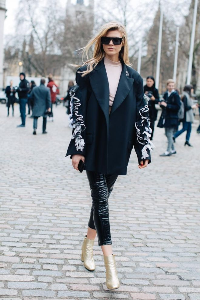 Street style fashion week londres automne hiver 2017 2018 : Maryna Linchuk @lucearow