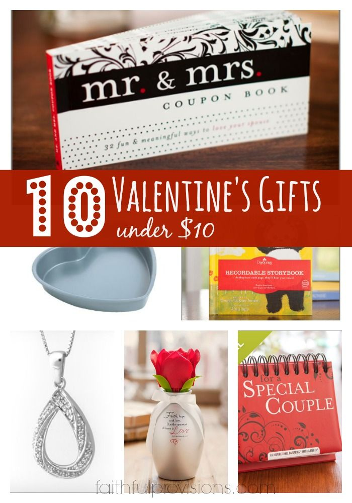 Valentines Gifts. Valentine's Day doesn't have to cost a fortune. Here are 10 Valentines Gifts that only cost $10 or less.  Read more at http://faithfulprovisions.com