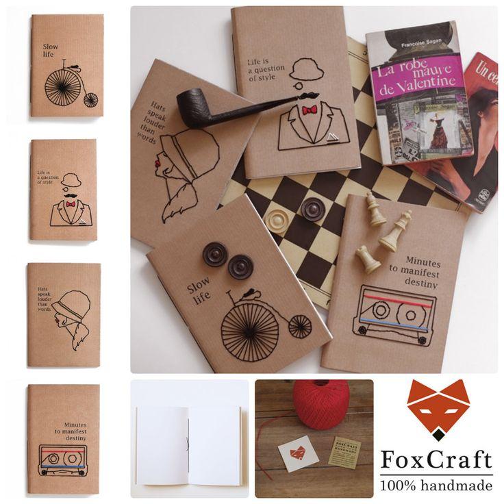 FC   Fox Craft è un marchio italiano nato dall'amore per la carta e per la rilegatura artigianale.Ago e filo si incontrano dando vita a composizioni originali che solleticano la vista e il tatto di grandi e piccini.Taccuini, album per foto,...