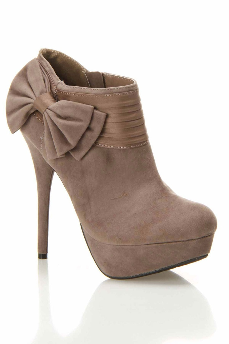 nike cycling shoes sale Taupe Bow Booties 30  my love for shoes