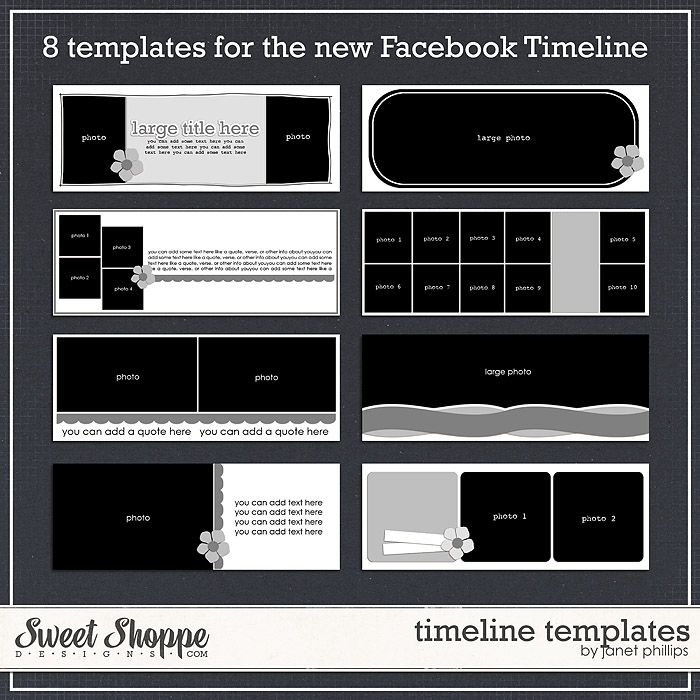 template for the big picture on the new facebook timelkne