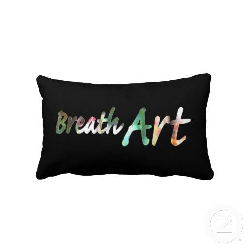 Breath Art 101 - by Greta Thorsdottir - Lumbar Pillow from Zazzle