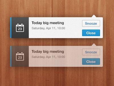 Notification - Mobile design UI UX