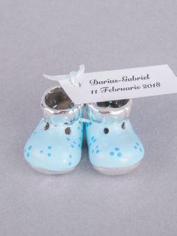 Marturii Botez Botosei Ceramica Bleu Marturii Botez Baby Shoes