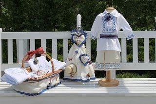 Trusou Botez Personalizat, Trusouri Botez, Hainute Botez, Lumanari Botez : Trusou botez complet traditional