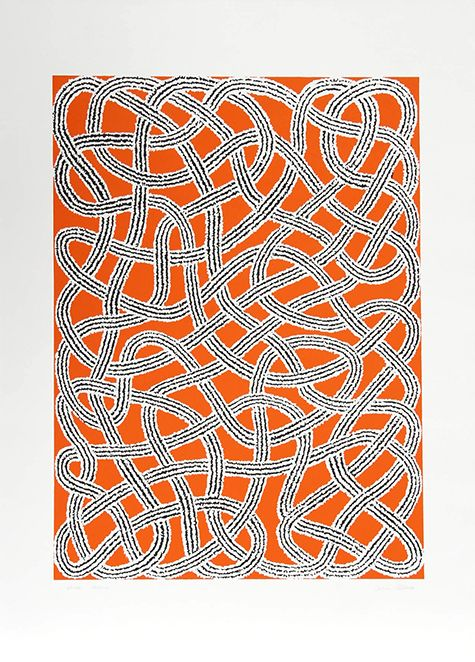 """Unraveling the Abstract Weavings of Anni Albers — The screen-print Study for a Nylon Rug, 1983, is also included in the """"Connections"""" portfolio, which features work created between 1925 and 1983."""