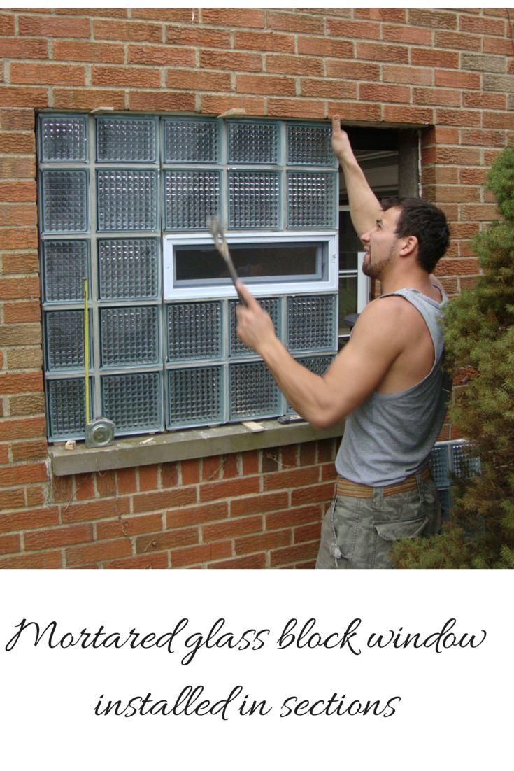 "Ever wonder how glass block windows are installed? This article not only features the mortared glass block window being installed in sections here - but also the ""silicone"" and ""protect all"" methods as well. #glassblockinstallation #windowinstallation #glassblockinstall #howto #howtoinstallglassblock"