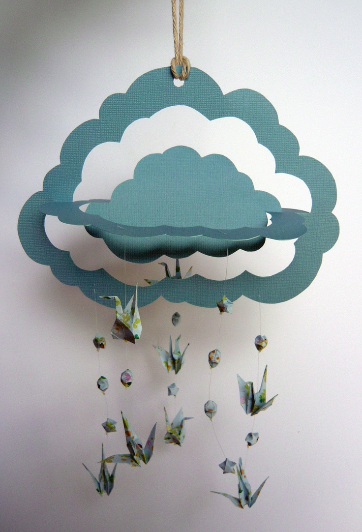 paper and origami cloud mobile
